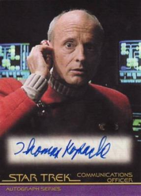 Thomas Kopache Star Trek certified autograph card