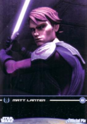 Star Wars Clone Wars Matt Lanter (Anakin) 2009 promo card