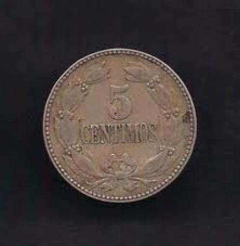 Coins;  Venezuela 5 Centimos 1938 Coin