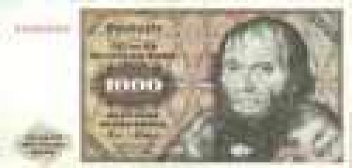 Germany,  Federal   Republic; 1000 Deutsche Mark; Issue of 1980