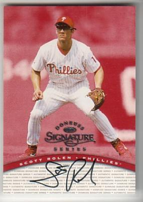 Scott Rolen certified autograph Phillies 1997 Donruss Signature Series card
