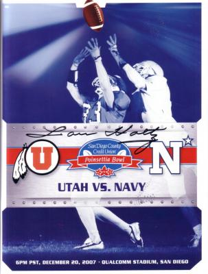 Lou Holtz autographed 2007 Poinsettia Bowl program