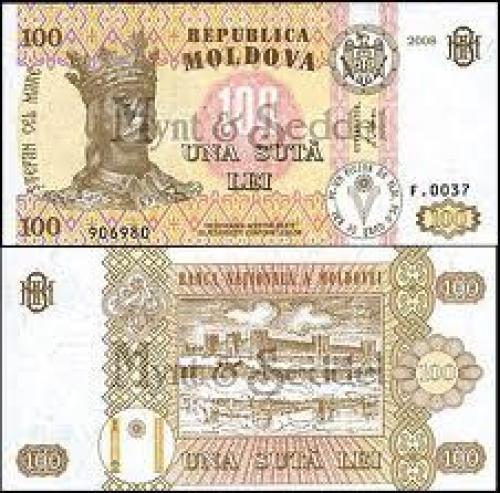 Banknotes; banknotes: Moldova..100 Lei;