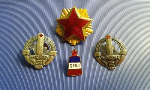 MILITARY SFRJ YUGOSLAVIA BORDER STONE BORDER BADGES OFFICER PARTISAN STAR