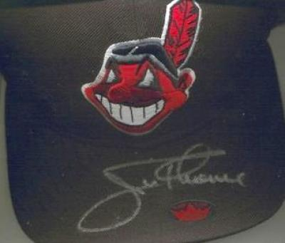 Jim Thome autographed Cleveland Indians game model cap