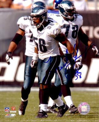 Trent Cole autographed 8x10 Philadelphia Eagles photo