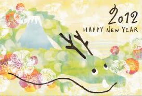 Japan 2012 Year of Dragon postcard