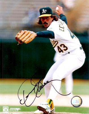 Dennis Eckersley autographed 8x10 Oakland A&#039;s photo