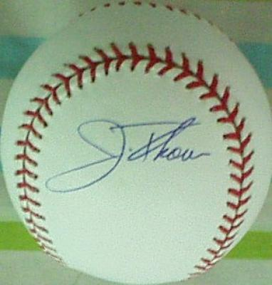 Jim Thome autographed MLB baseball
