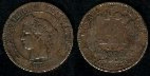10 centimes; Year: 1870-1898; (km 815)