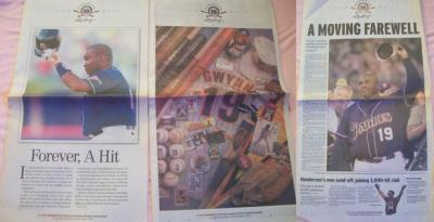 Tony Gwynn The Greatest Padre 2001 San Diego Union-Tribune newspapers