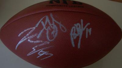 Brad Johnson Brian Kelly John Lynch (Buccaneers) autographed NFL football