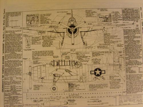 Grumman WW2 TBF (Torpedo Bomber Fighter) Aircraft drawings and specs for model makers, re builders.