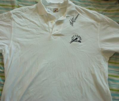 Retief Goosen autographed 2001 U.S. Open golf shirt