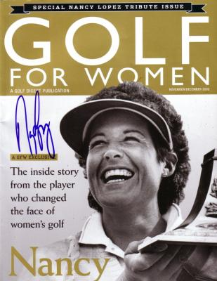 Nancy Lopez autographed Golf for Women Tribute magazine