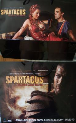 Spartacus 2010 Comic-Con Starz 2 sided promo bag