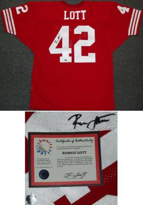 Ronnie Lott autographed San Francisco 49ers authentic jersey