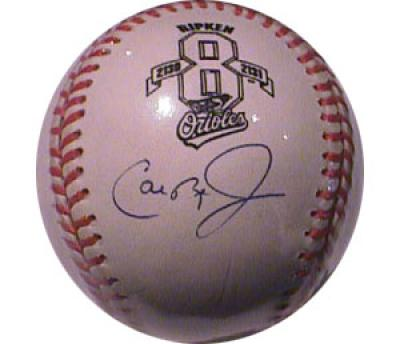 Cal Ripken autographed Baltimore Orioles 2130/2131 #8 baseball