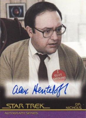 Alex Henteloff Star Trek certified autograph card