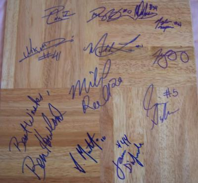 2008-09 UCLA team autographed floor (Ben Howland Darren Collison Josh Shipp)