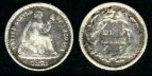 5 cents;Year: 1860-1873; Liberty Seated w/ legend
