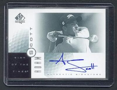 Adam Scott certified autograph 2001 SP Authentic Sign of the Times card