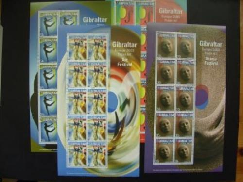 Gibraltar. Europe-Cept 2003, 4 full sheets
