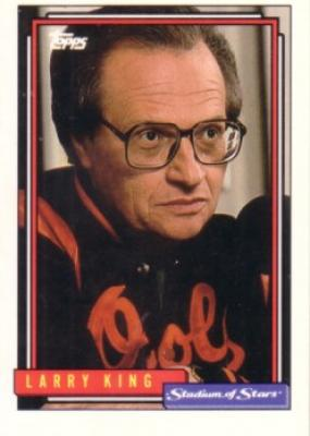 Larry King 1992 Topps Stadium of Stars card