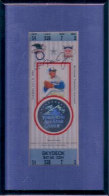 Cal Ripken autographed 1991 MLB All-Star Game ticket framed