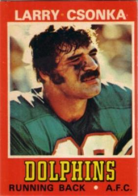 Larry Csonka Dolphins 1974 Wonder Bread card #5 Ex