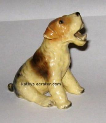 Mortens Studio Open Mouthed Fox Terrier Dog Animal Figurine