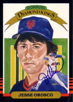 Jesse Orosco autographed New York Mets 1985 Donruss Diamond King 5x7 card