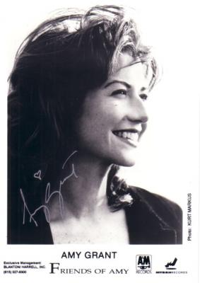 Amy Grant autographed 5x7 photo