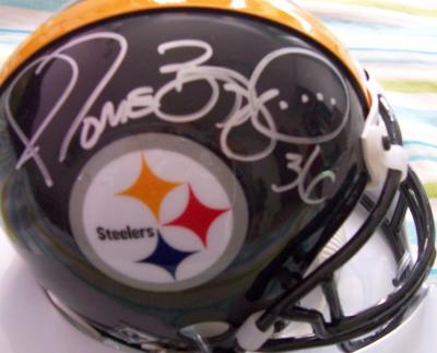 Jerome Bettis autographed Pittsburgh Steelers mini helmet