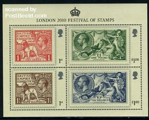 London festival of stamps 4v m/s