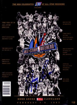 Jerry Lucas autographed NBA 50 Greatest Players 1997 NBA All-Star program