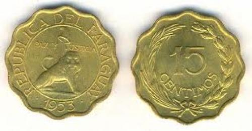 Coins; PARAGUAY 15 CENTIMOS