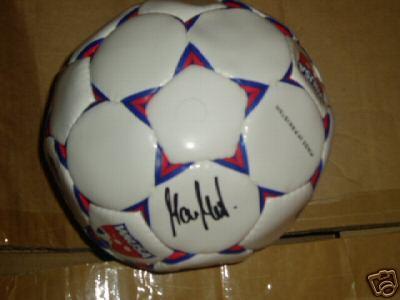 Maren Meinert autographed WUSA mini soccer ball