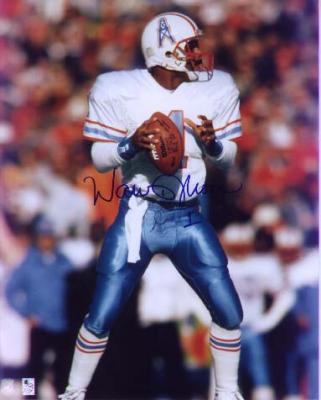 Warren Moon autographed 8x10 Houston Oilers photo