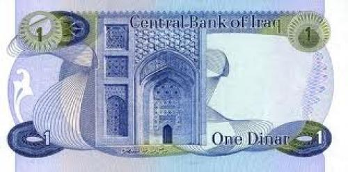 Banknotes; Iraq 1 Dinar Year:1973