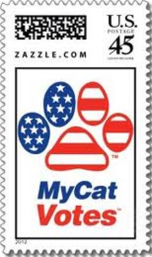 Stamps; My Cat Votes U.S. Postage Stamp; 45 cents