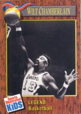 Wilt Chamberlain 1990 Sports Illustrated for Kids card
