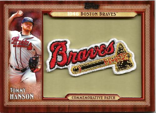 2011 Topps Commemorative Patch #TLMP-THA ~ Tommy Hanson