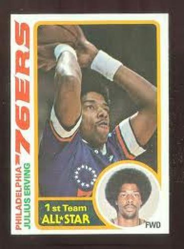 Basketball Card; 978-79 Topps Basketball #130 Julius Erving; Sixers