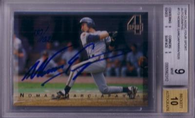 Nomar Garciaparra certified autograph Georgia Tech 1994 Classic card BGS 9 MINT