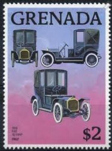 Stamps; 1910 Fiat 10/14 Hp Landaulette Car Stamp