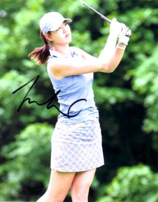 Michelle Wie autographed 8x10 photo