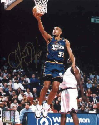 Grant Hill autographed 8x10 Detroit Pistons photo