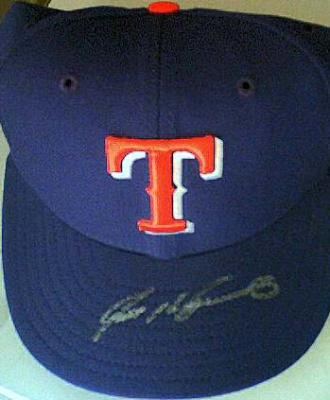 Ivan (Pudge) Rodriguez autographed Texas Rangers game model cap