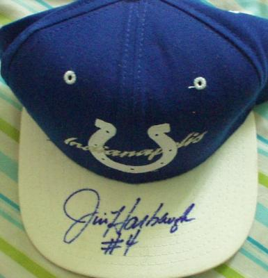 Jim Harbaugh autographed Indianapolis Colts cap